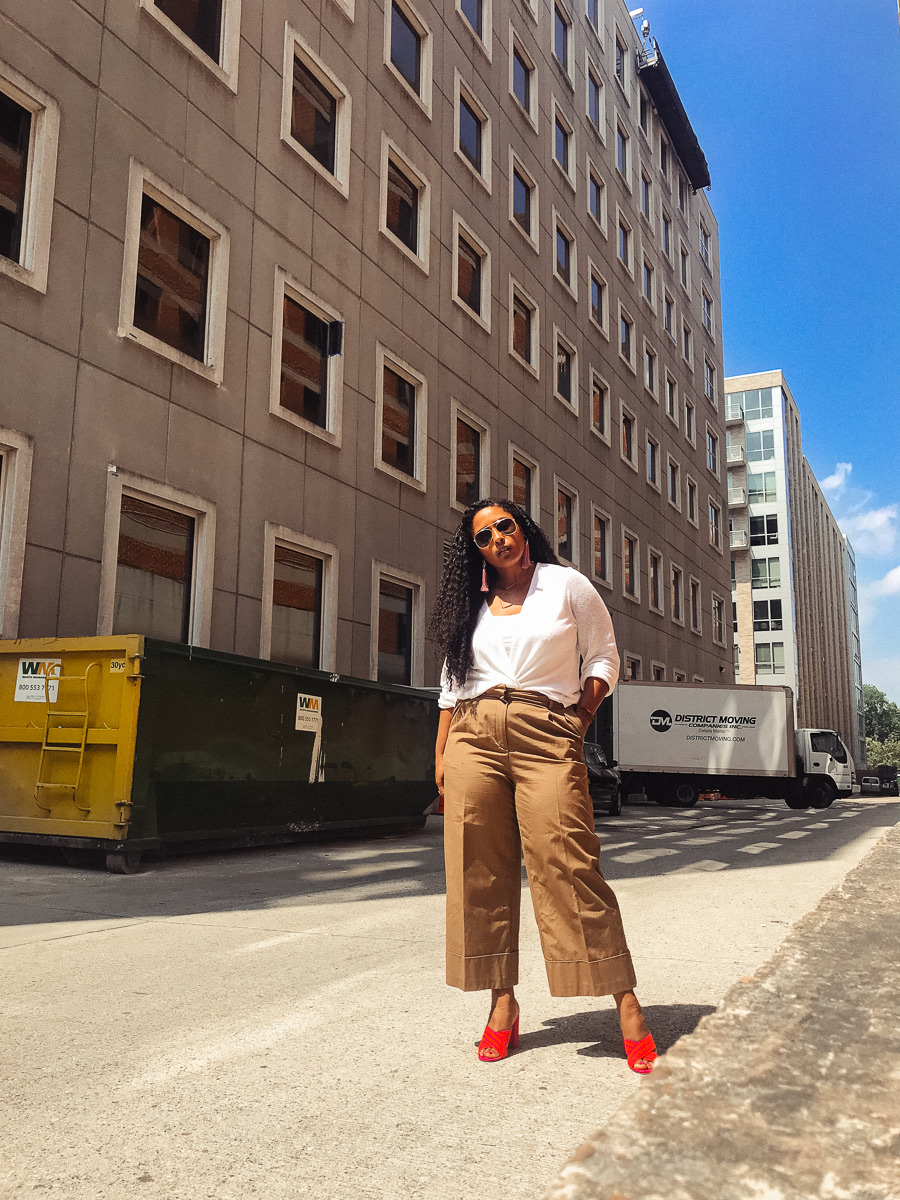 top washington dc blogger summer style wearing who what wear target pants