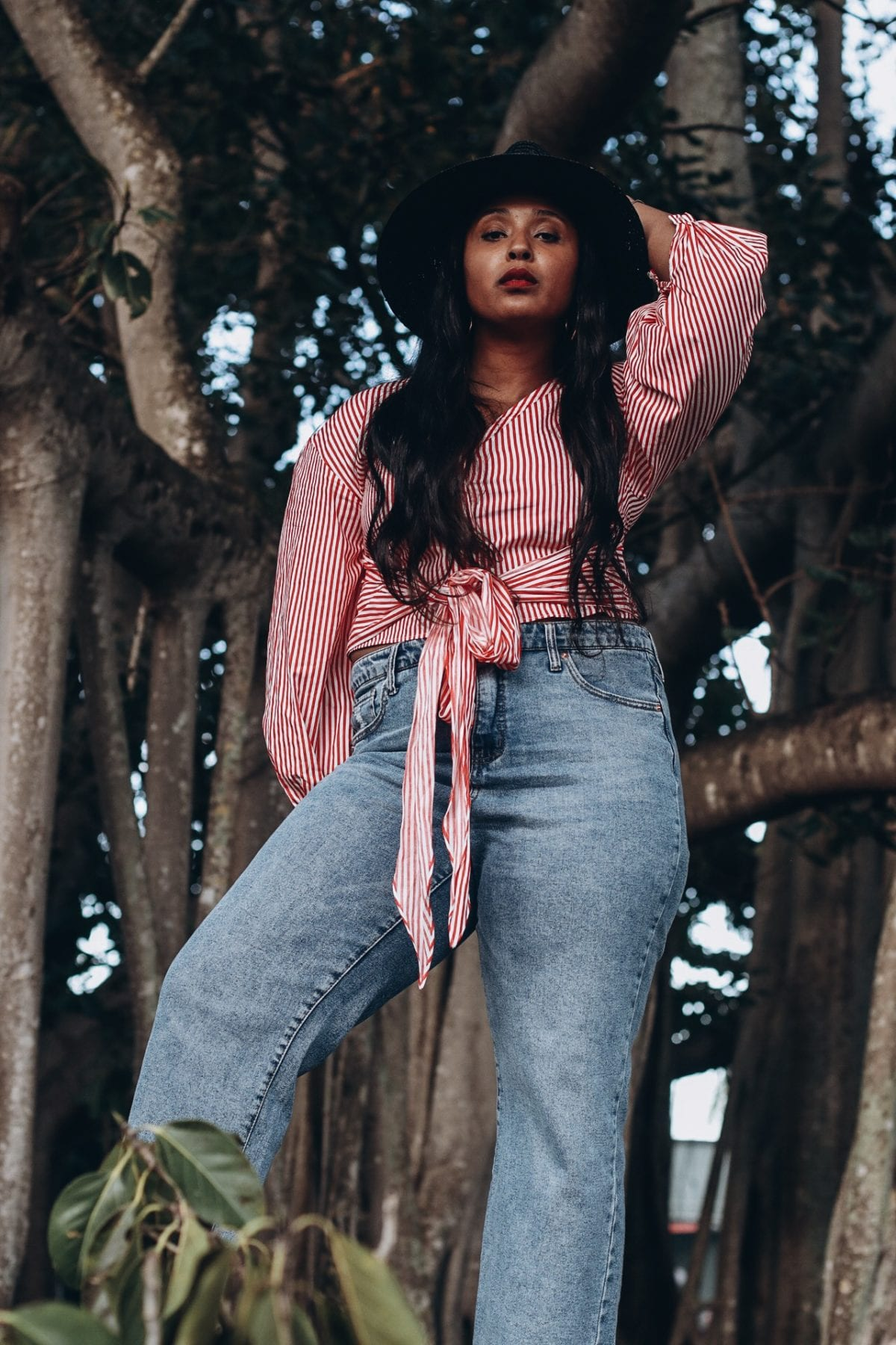 top washington dc blogger shooting in fort myers florida at edison estates wide leg cropped jeans